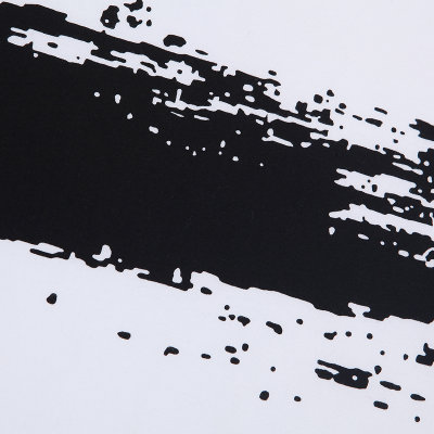 泼墨印花秋装t恤圆领日系潮牌 男t恤长袖潮(白色 l)